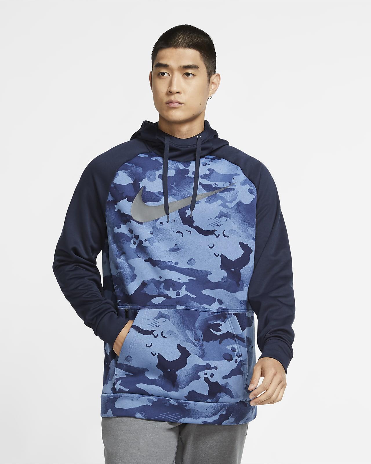Sudadera con capucha sin cierre de entrenamiento de camuflado para hombre Nike Therma