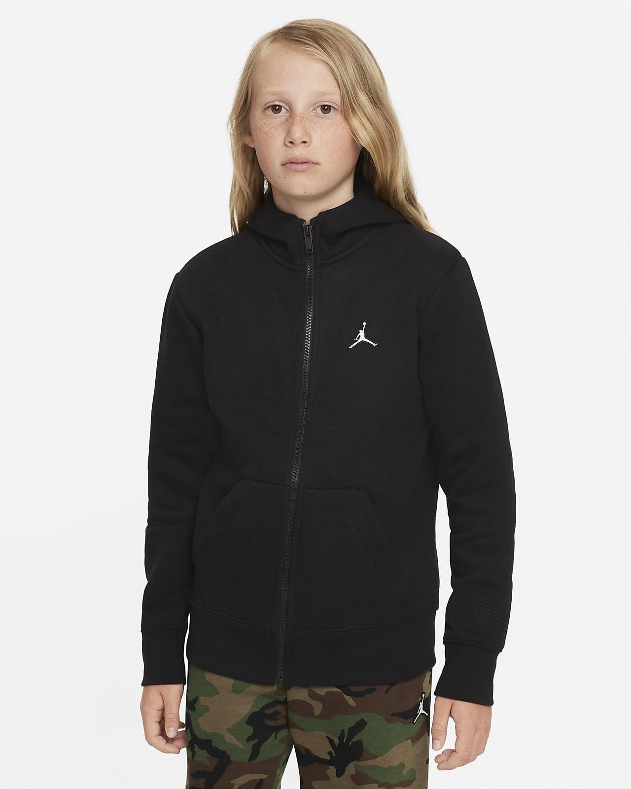 Sudadera con capucha de cierre completo para niño talla grande Jordan