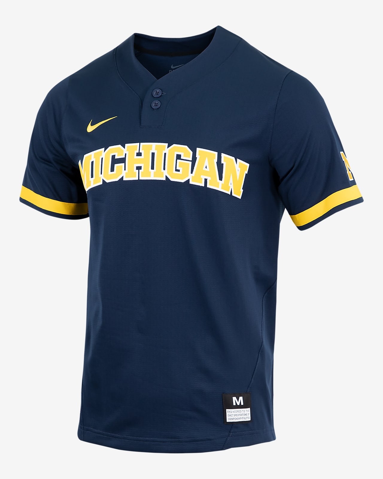 Nike College (Michigan) Men's 2-Button Baseball Jersey