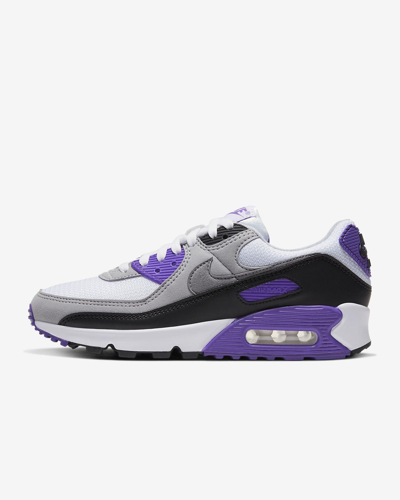 Nike Air Max 90 White Purple Grey Pink in 2020 | Nike air