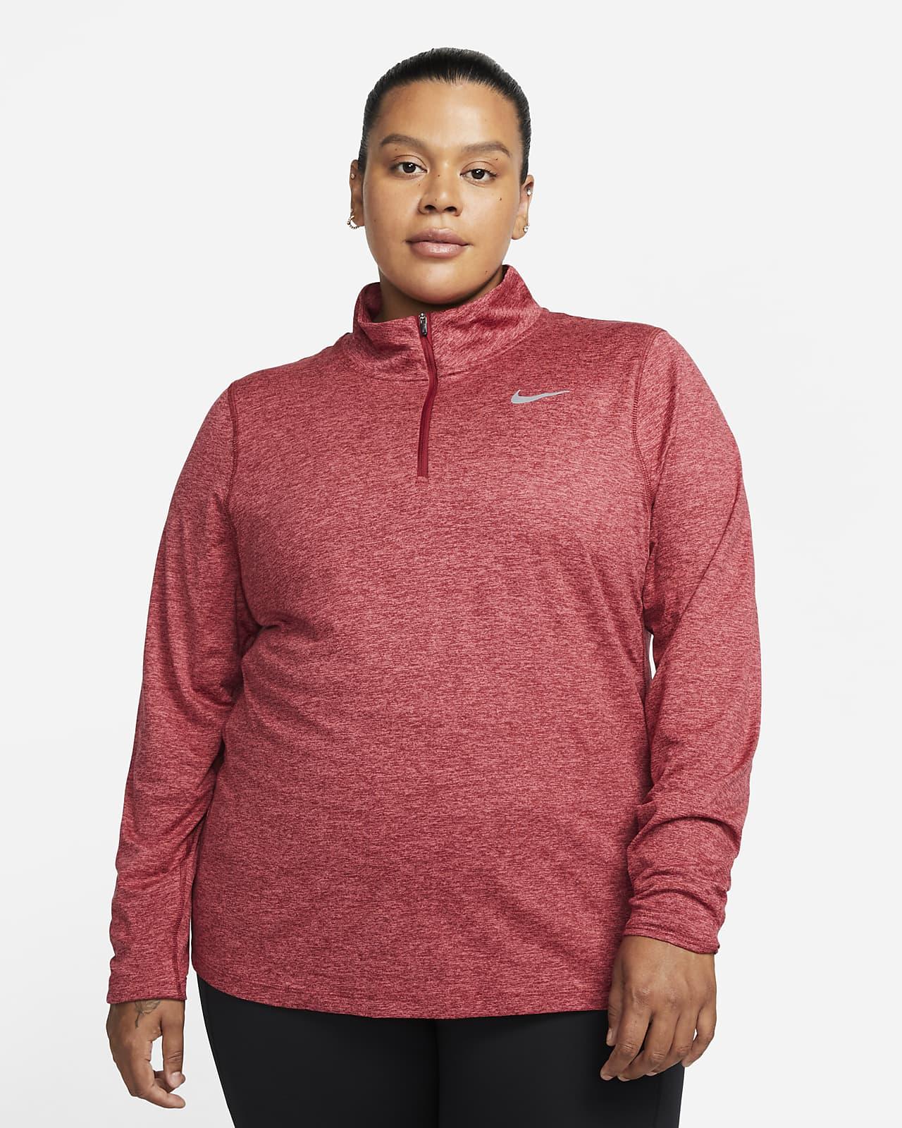 Nike Lauf-Oberteil mit Halbreißverschluss für Damen (große Größe)