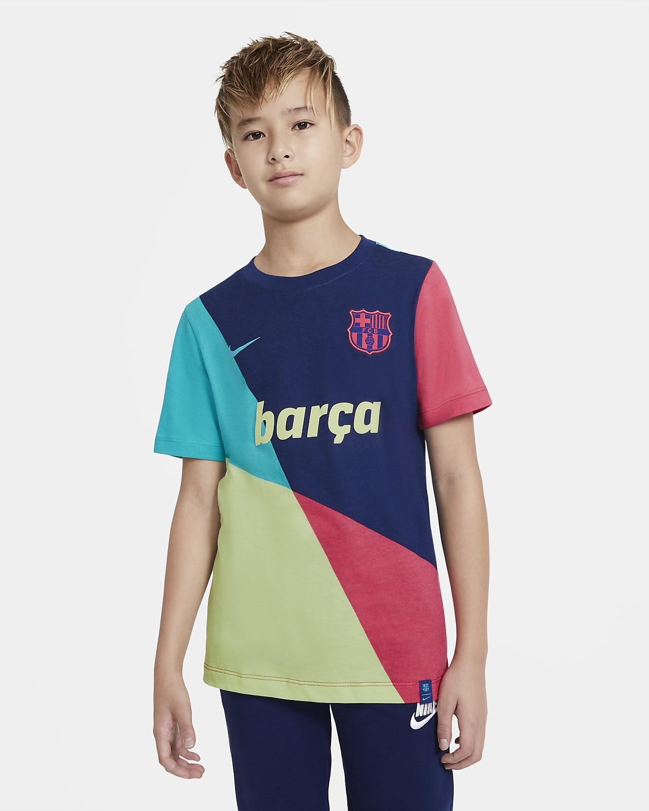 Playera de fútbol para niños talla grande FC Barcelona