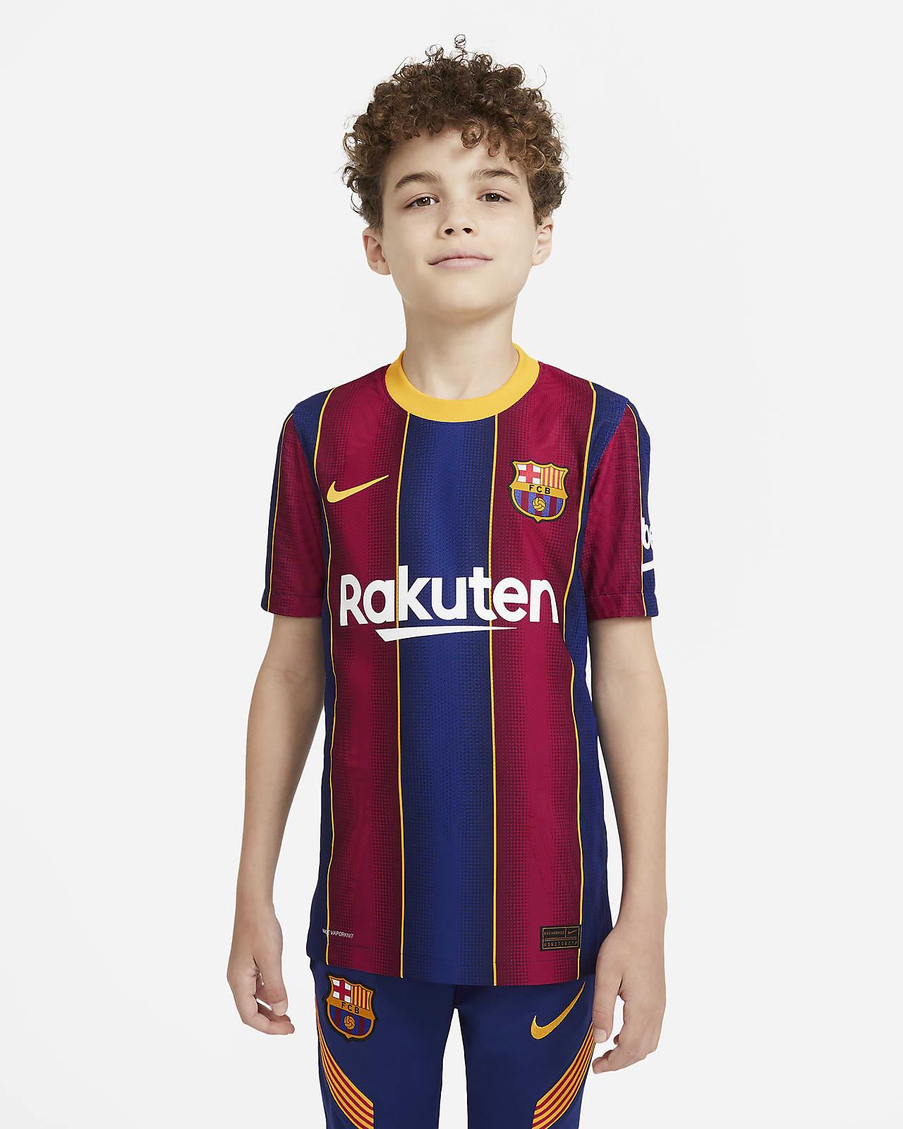 Футбольное джерси для школьников из домашней формы ФК «Барселона» 2020/21 Vapor Match
