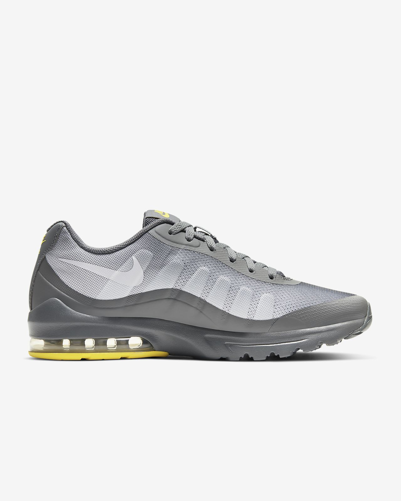 Lime Green, Grey, and Black Nike Air Max Invigor
