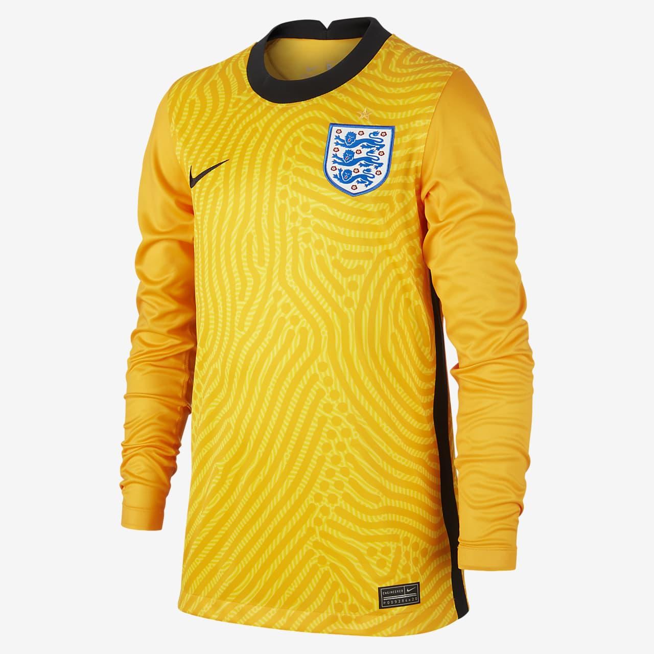England 2020 Stadium Goalkeeper Older Kids' Football Shirt