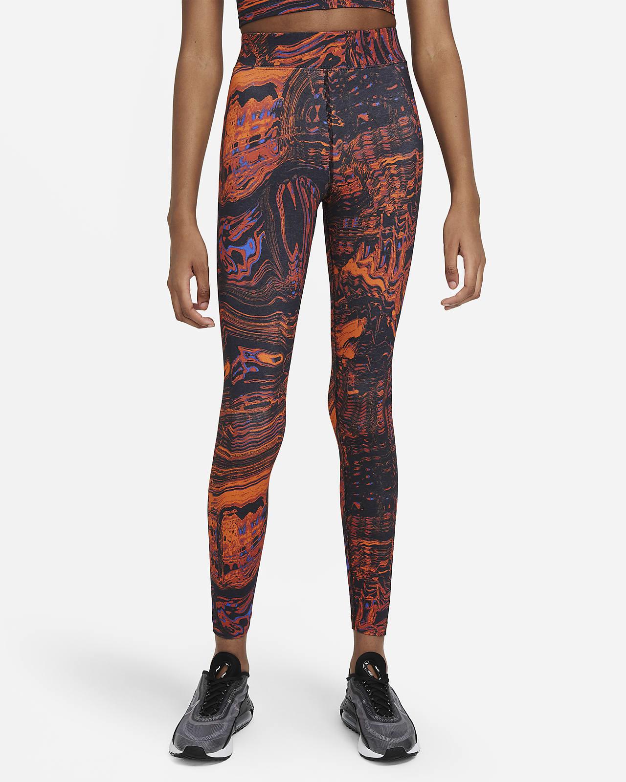 Mönstrade leggings Nike Sportswear med hög midja för kvinnor