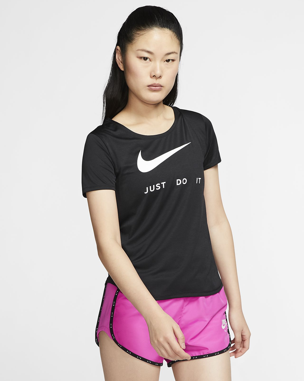 Nike Part superior de màniga curta de running - Dona