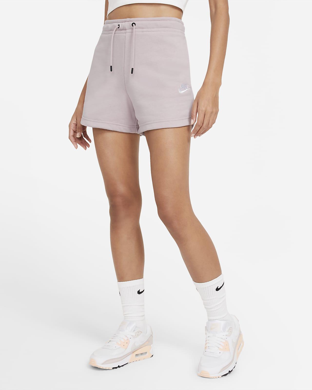 Calções em tecido moletão Nike Sportswear Essential para mulher