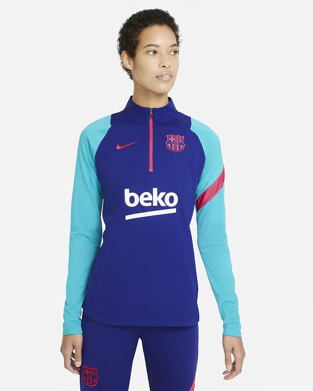 Haut d'entraînement de football FC Barcelona Academy Pro pour Femme