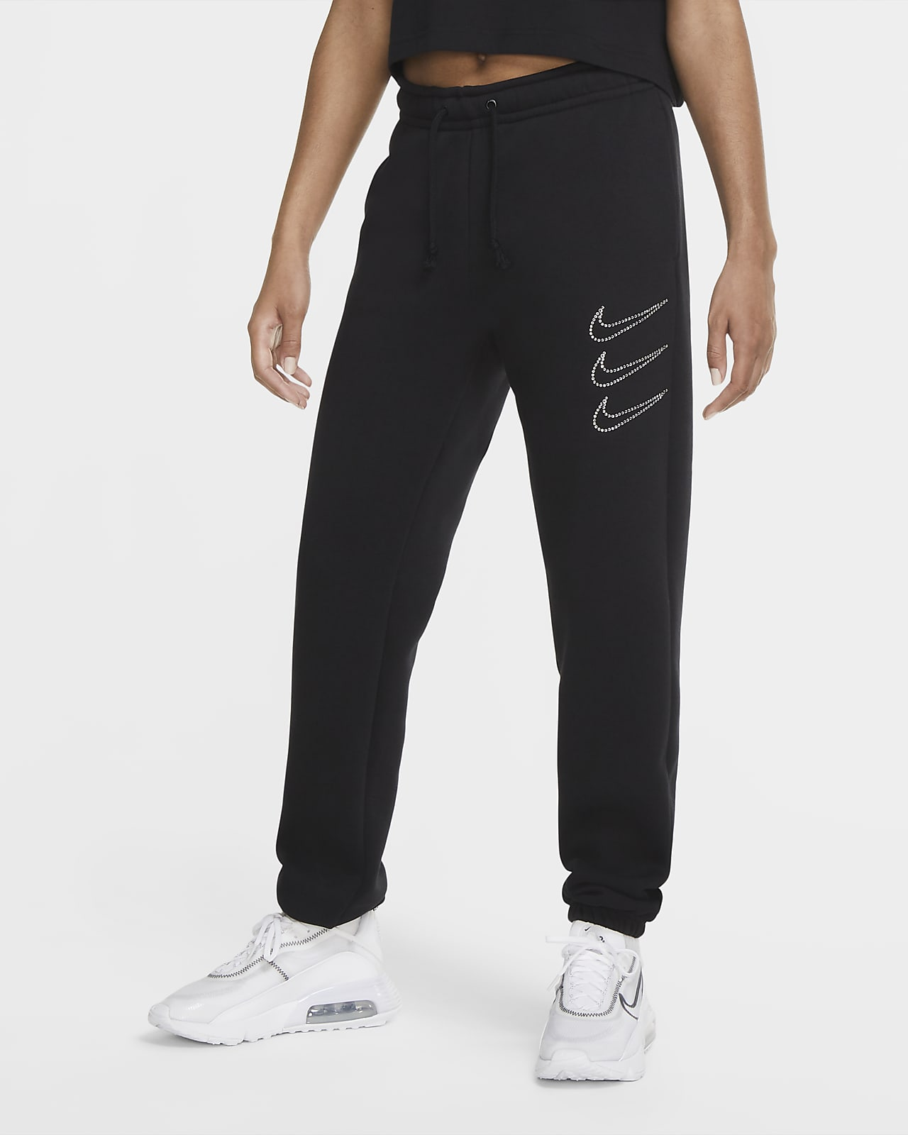 Nike Sportswear Rhinestone Pantalón de tejido Fleece - Mujer