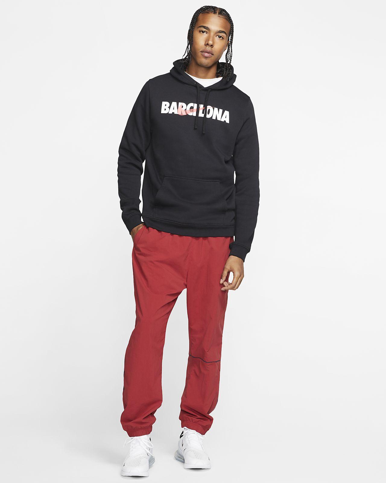 Nike Sportswear Club (Barcelona) fleece hættetrøje med print til mænd