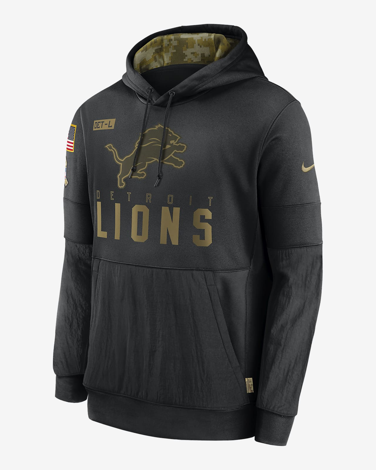 Sudadera con capucha para hombre Nike Therma Salute to Service (NFL Lions)