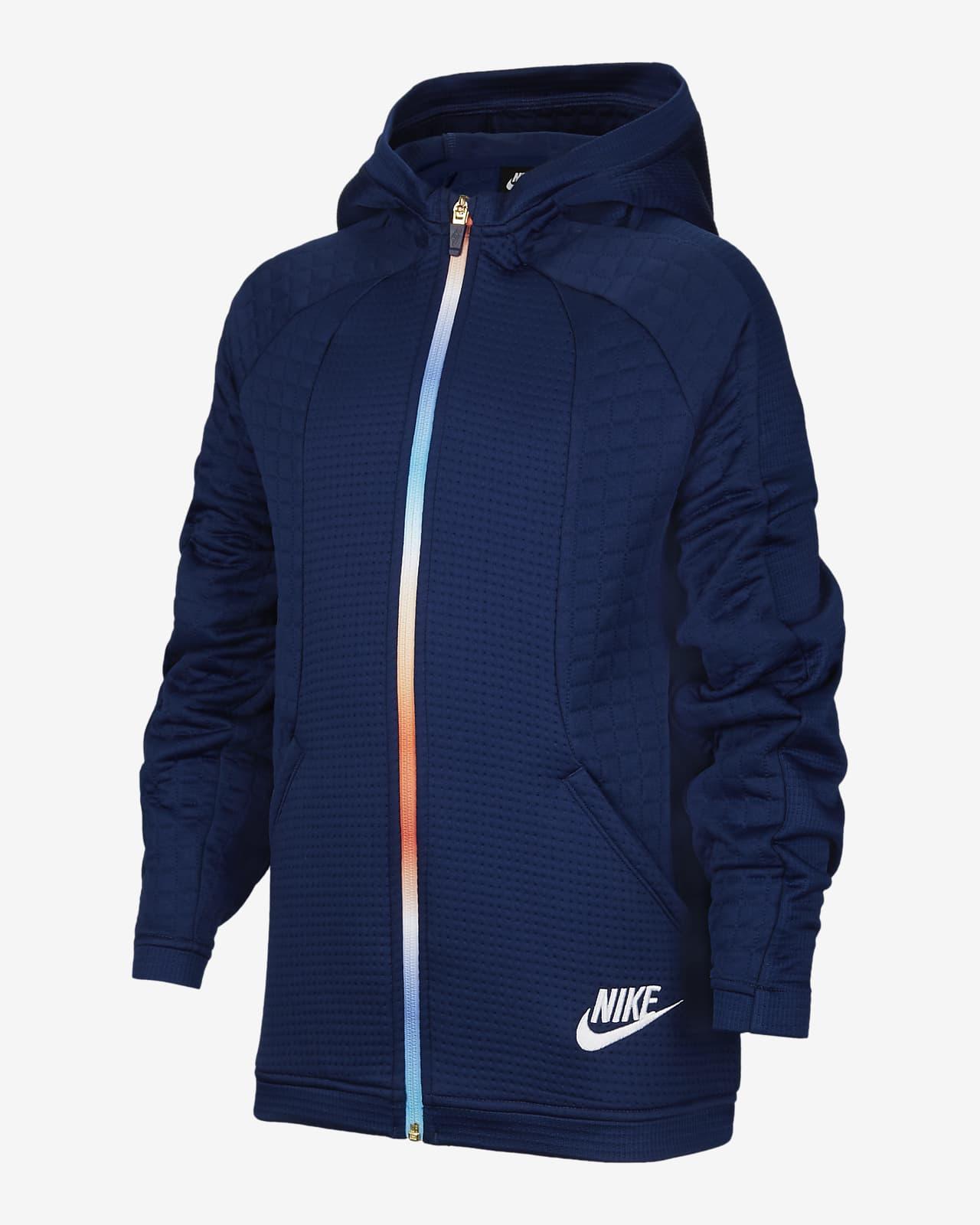 Nike Sportswear 大童(男孩)针织全长拉链开襟连帽衫