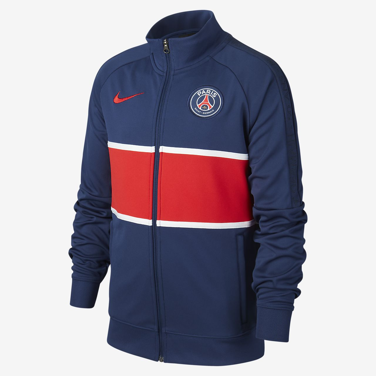 Paris Saint-Germain Older Kids' Football Tracksuit Jacket