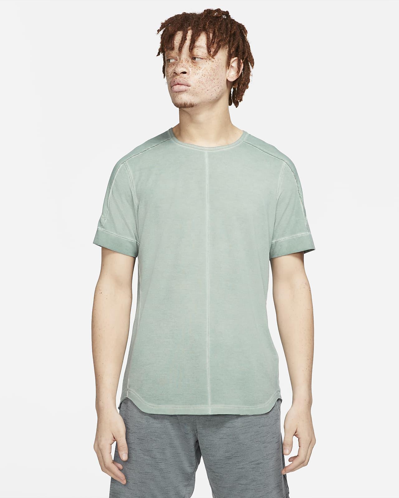 Barvené pánské tričko najógu skrátkým rukávem