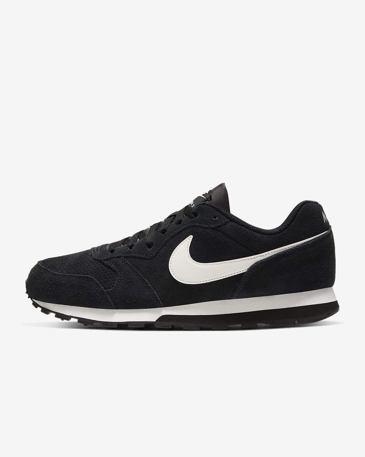 nike suede sneakers black