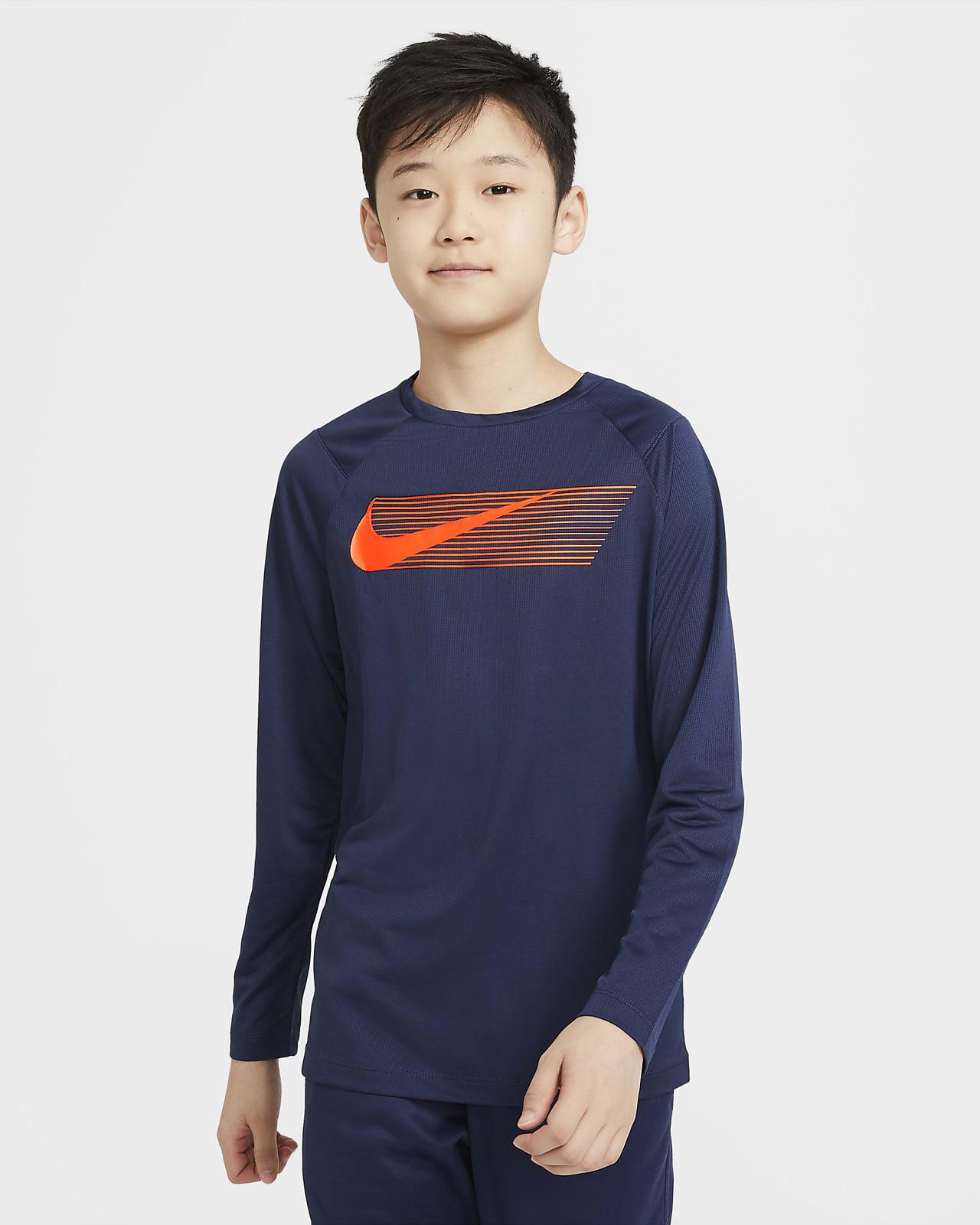 Nike Big Kids' (Boys') Graphic Long-Sleeve Training Top