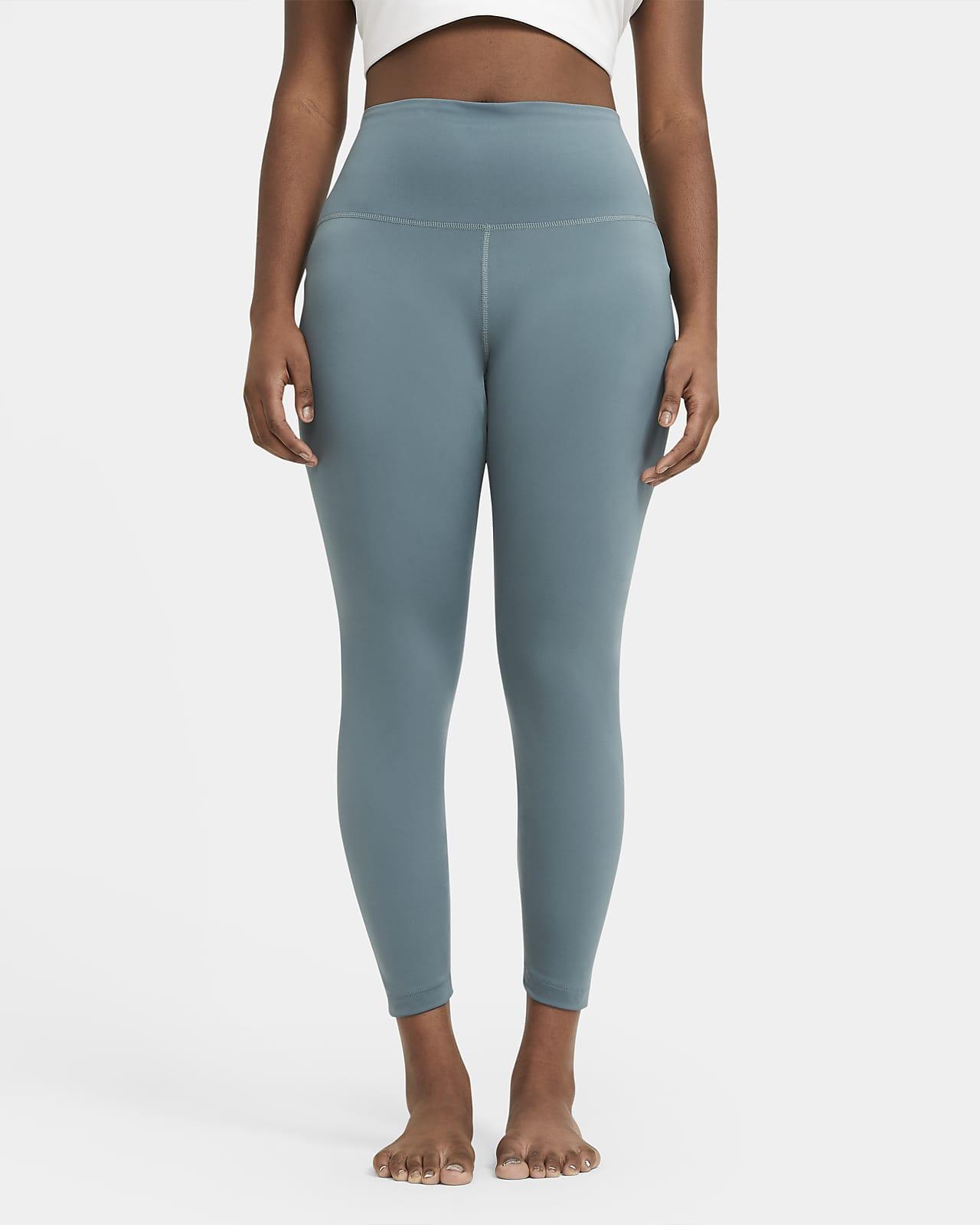 Женские слегка укороченные леггинсы Nike Yoga (большие размеры)