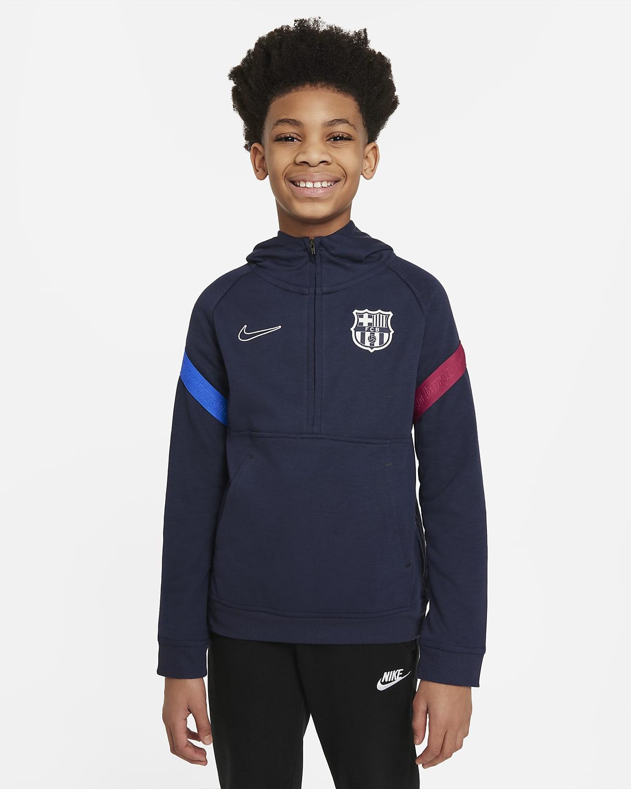 F.C. Barcelona Older Kids' Nike Dri-FIT 1/2-Zip Football Hoodie