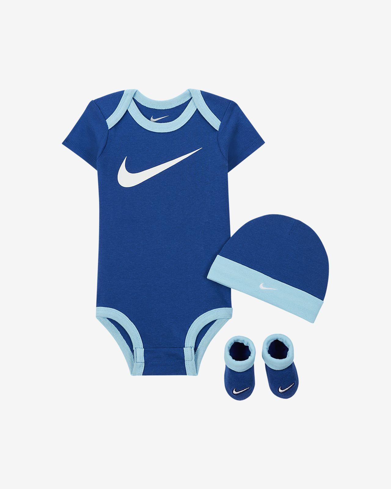 Conjunto de babete e carapins Nike para bebé