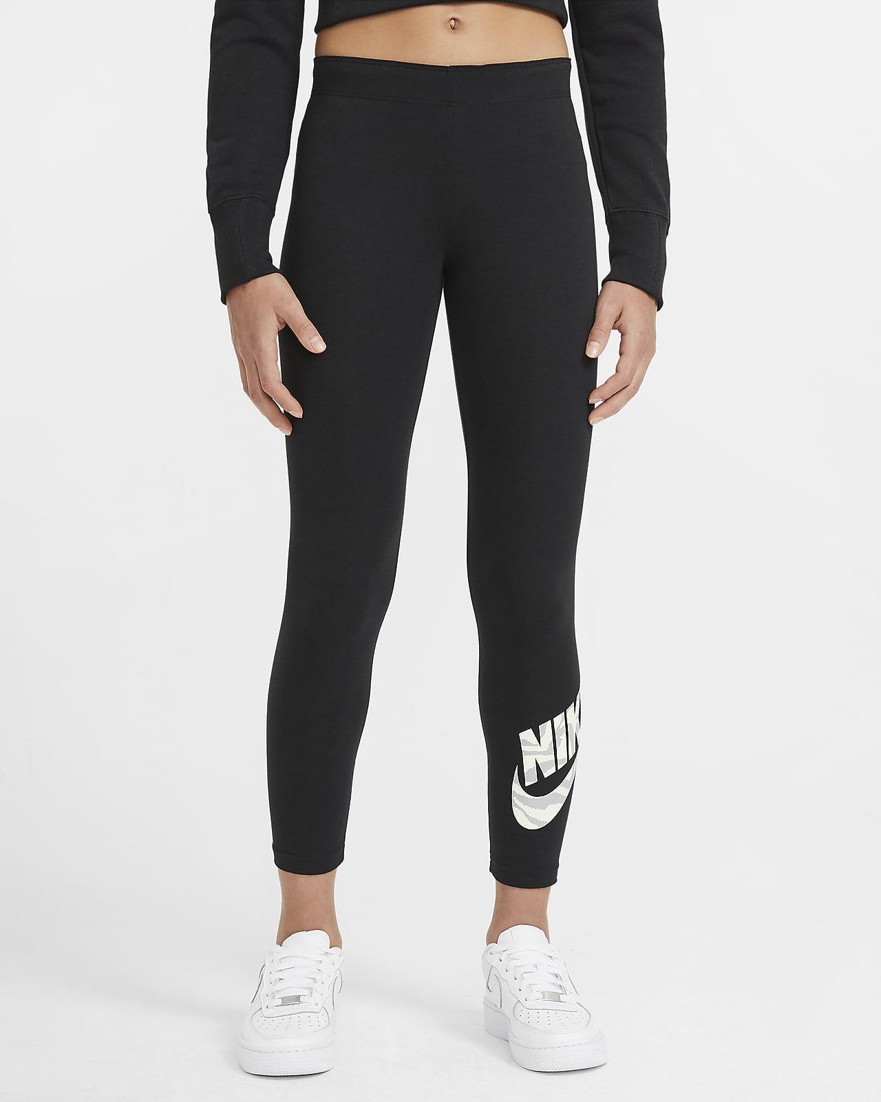 Leggings Nike Sportswear Favorites med tryck för ungdom (tjejer)