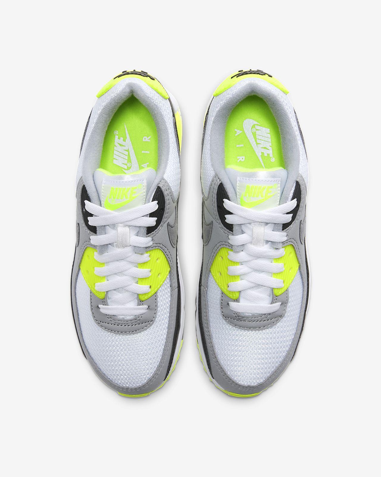 nike air max 90 neon hvit
