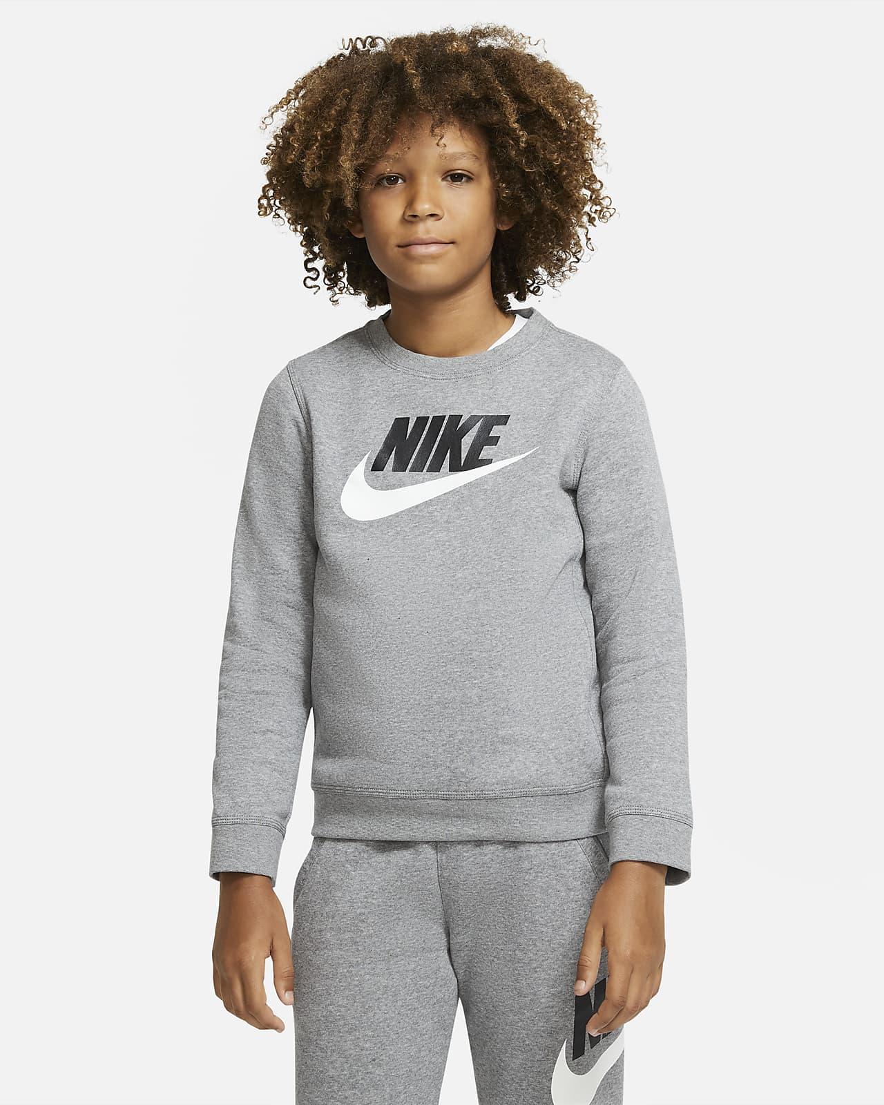 Tröja Nike Sportswear Club Fleece med rundad hals för ungdom (killar)