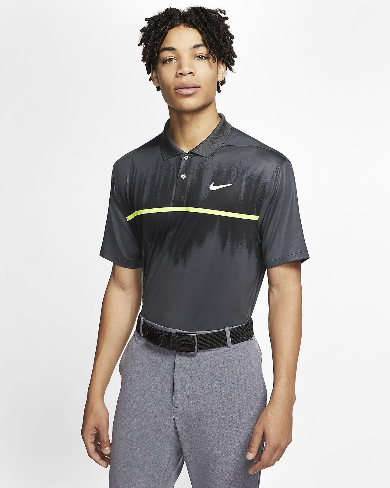 Męska koszulka polo do golfa z nadrukiem Nike Dri-FIT Vapor