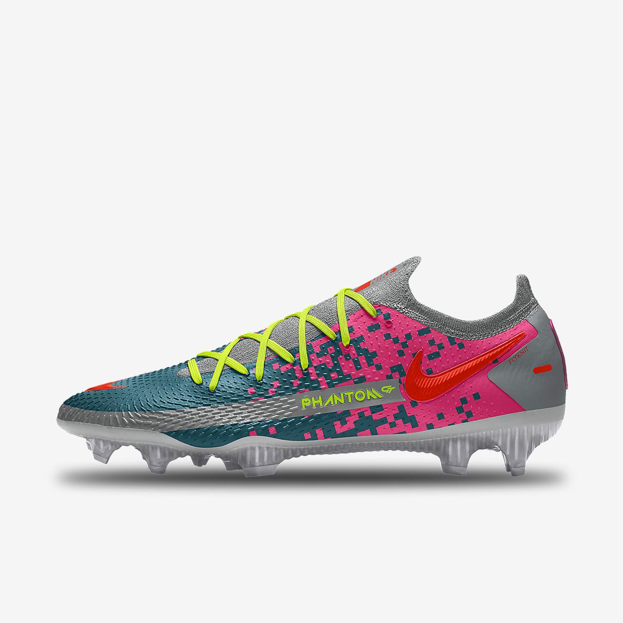 Specialdesignad fotbollssko för gräs Nike Phantom GT Elite By You