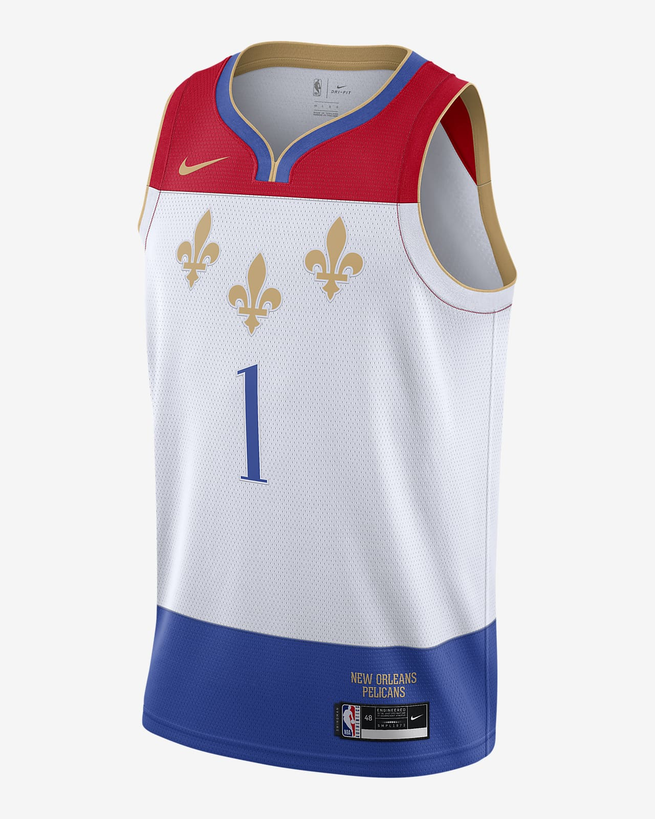New Orleans Pelicans City Edition Nike NBA Swingman Trikot