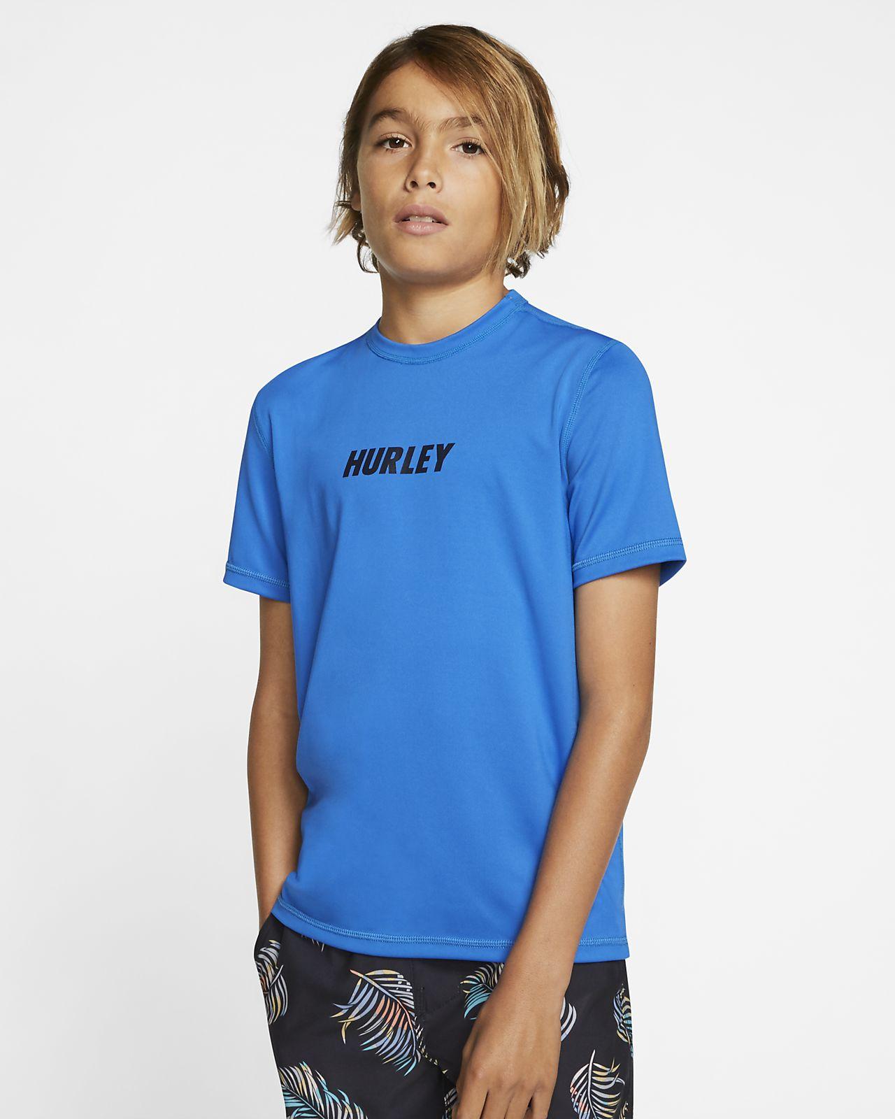 Hurley Fastlane Boys' Short-Sleeve Surf Top