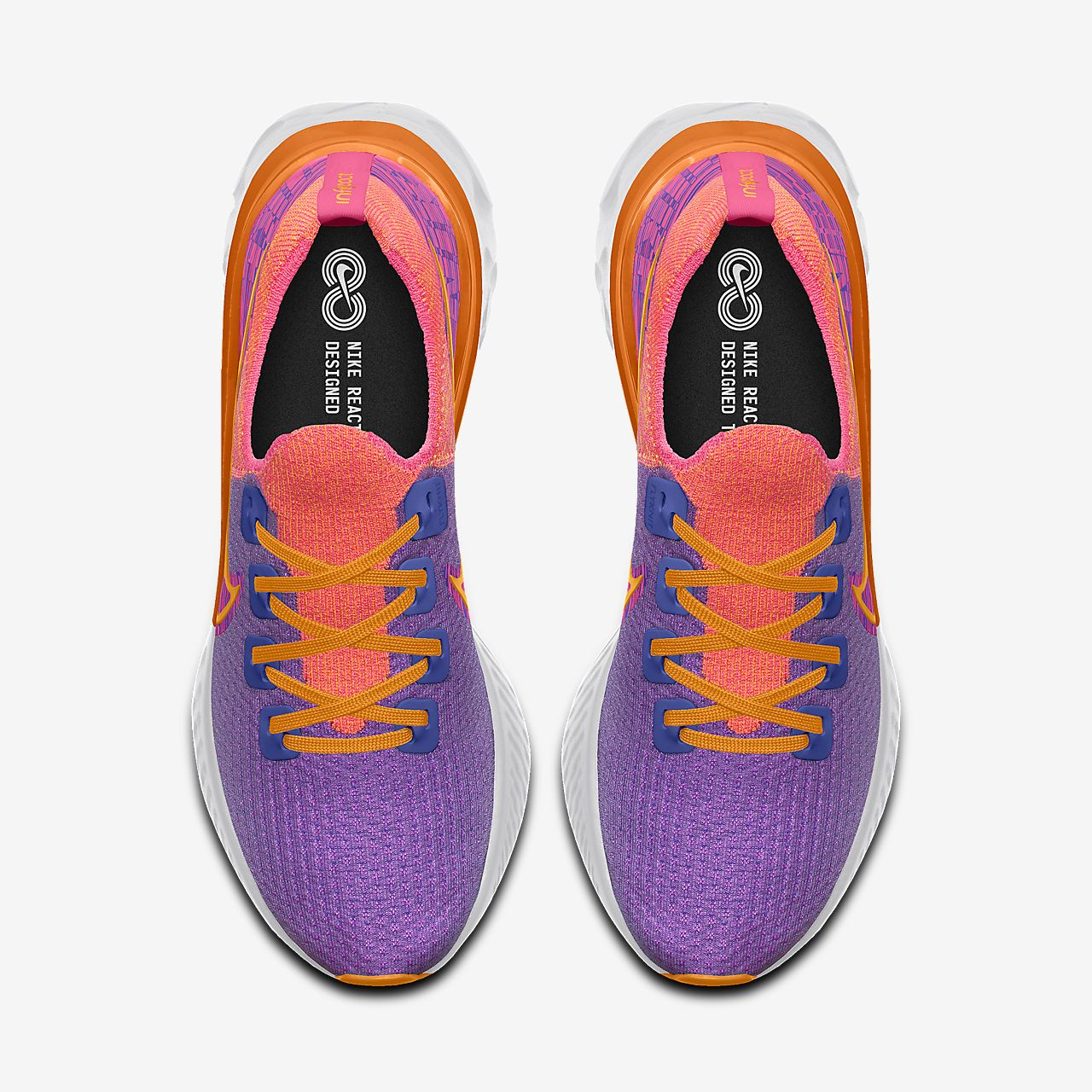 Nike React Infinity Run Flyknit By You Custom Women's Running Shoe