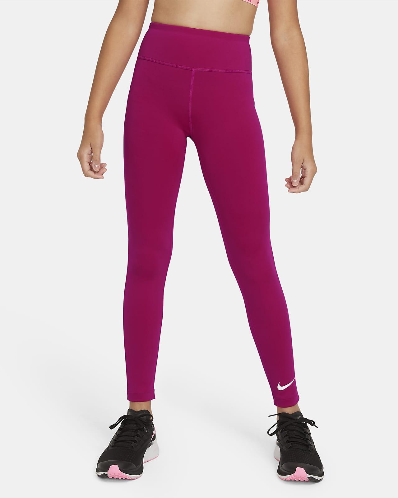 Leggings de entrenamiento para niñas talla grande Nike One