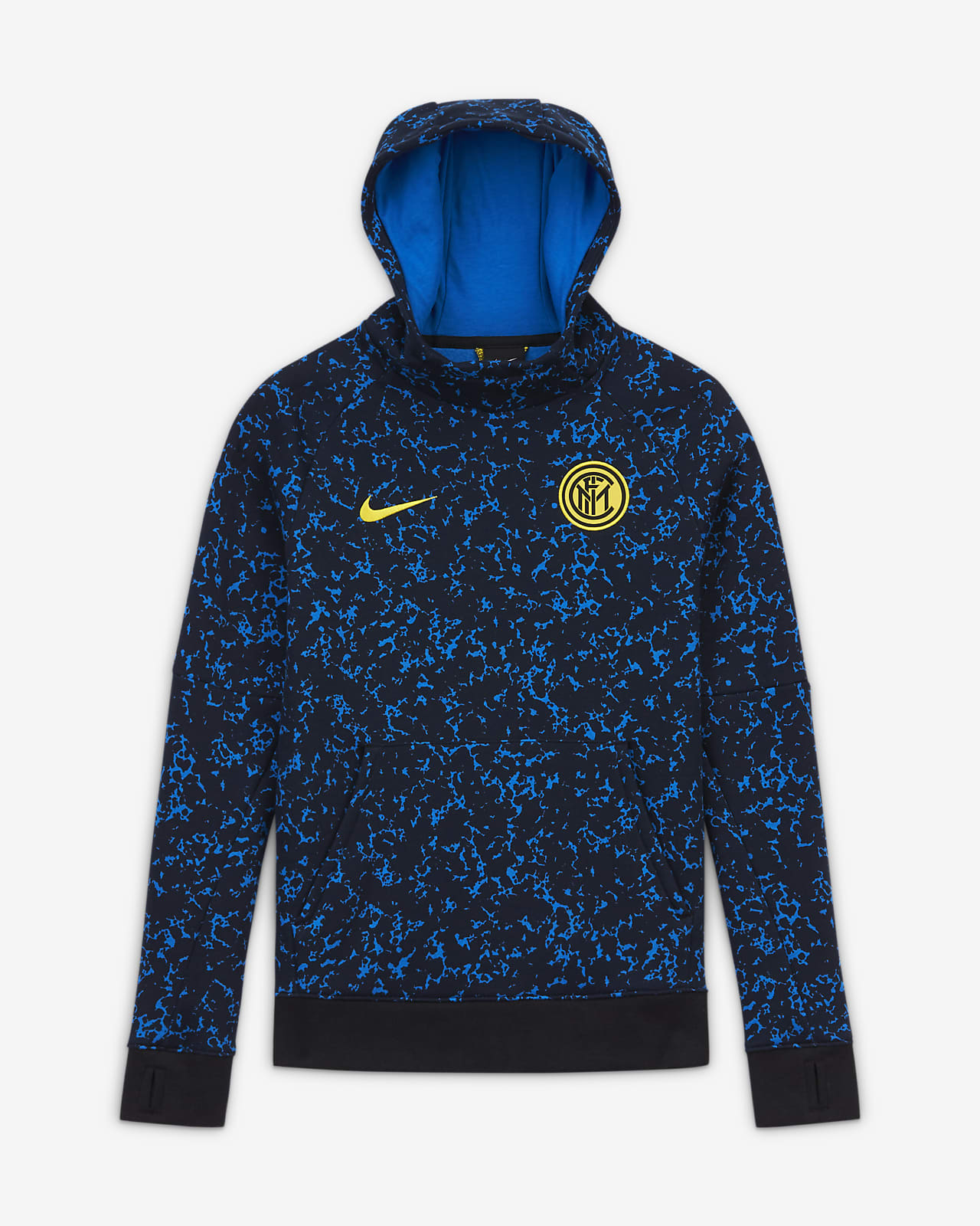 Sweat à capuche de football en tissu Fleece Inter Milan pour Enfant plus âgé