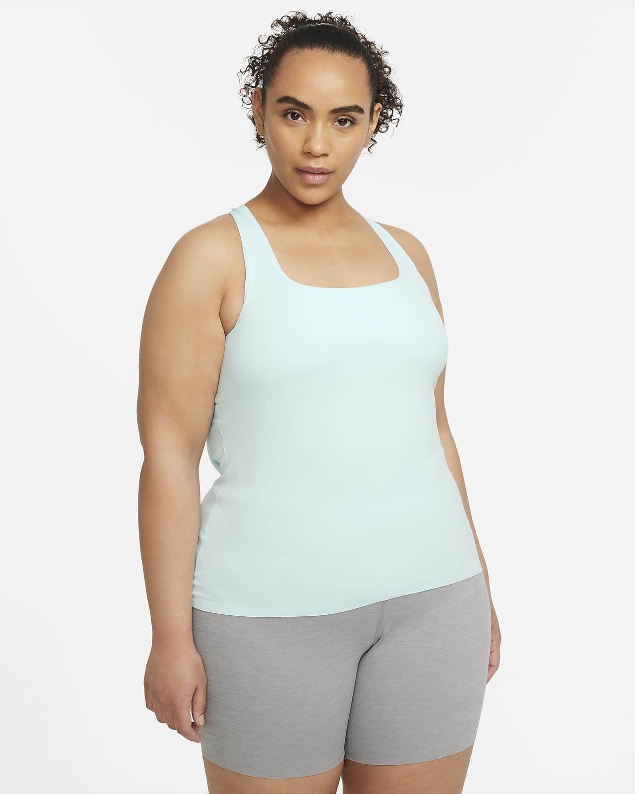 Camiseta de tirantes con sujetador para mujer talla grande Nike Yoga Luxe