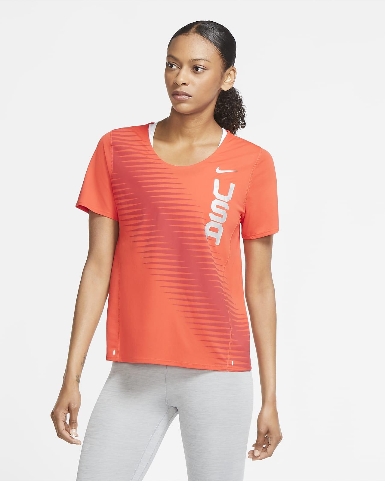 Γυναικεία μπλούζα για τρέξιμο Nike Team ΗΠΑ City Sleek