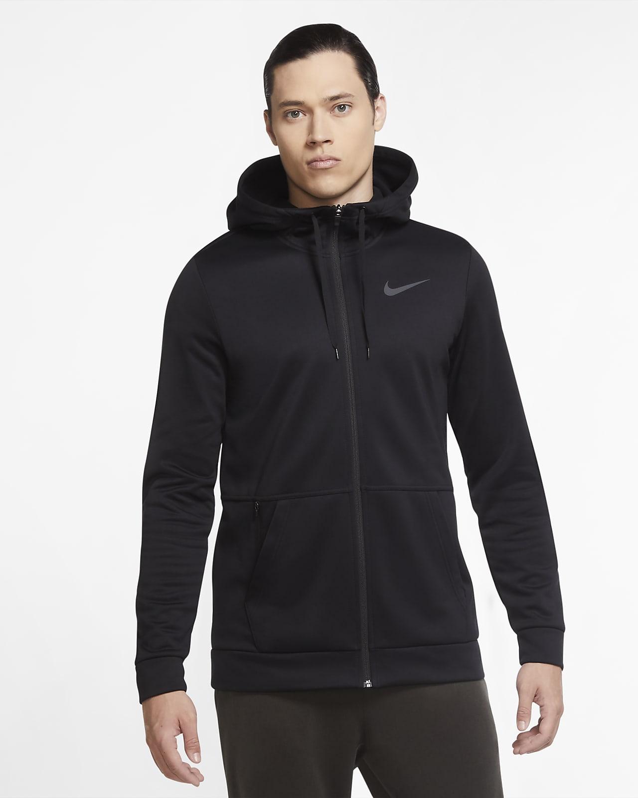 Träningshuvtröja Nike Therma med dragkedja för män