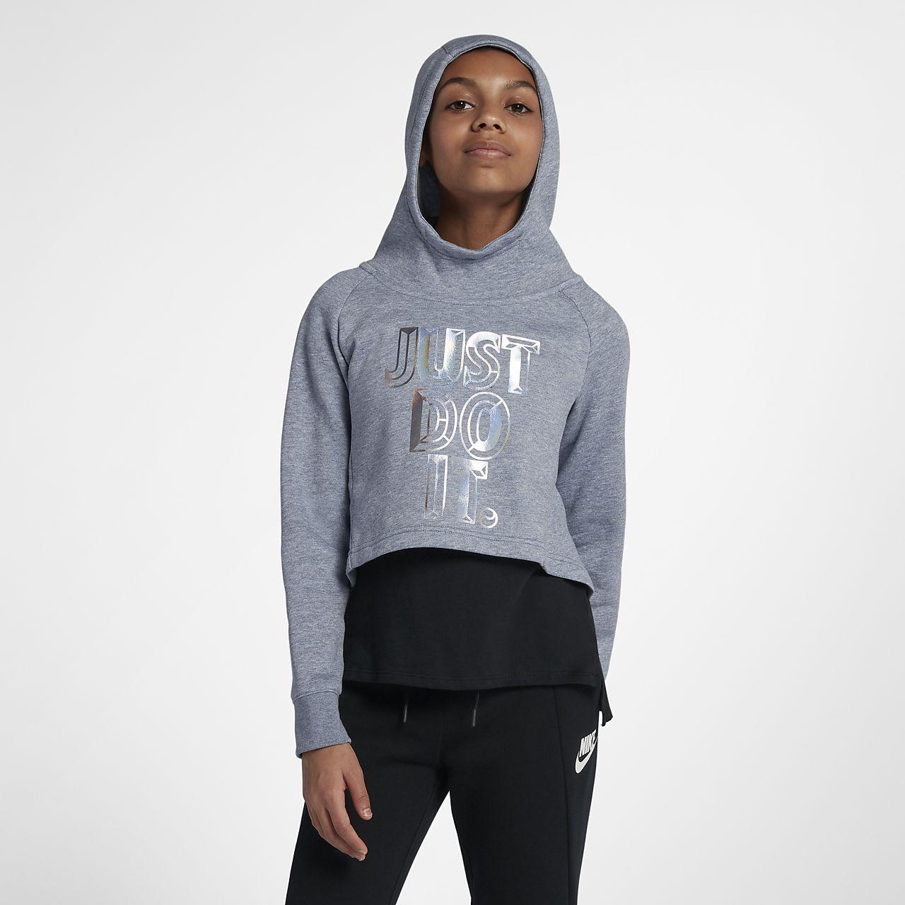 Nike Sportswear Older Kids' (Girls') JDI Cropped Hoodie
