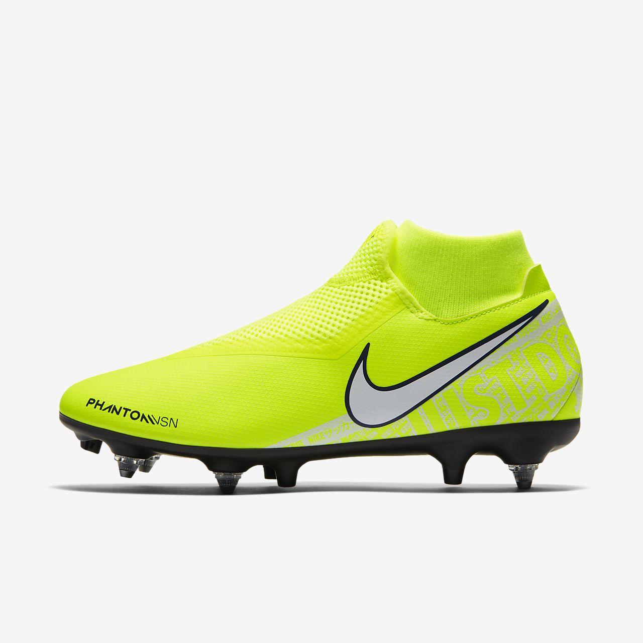 Футбольные бутсы для игры на мягком грунте Nike PhantomVSN Academy Dynamic Fit SG-Pro Anti-Clog Traction