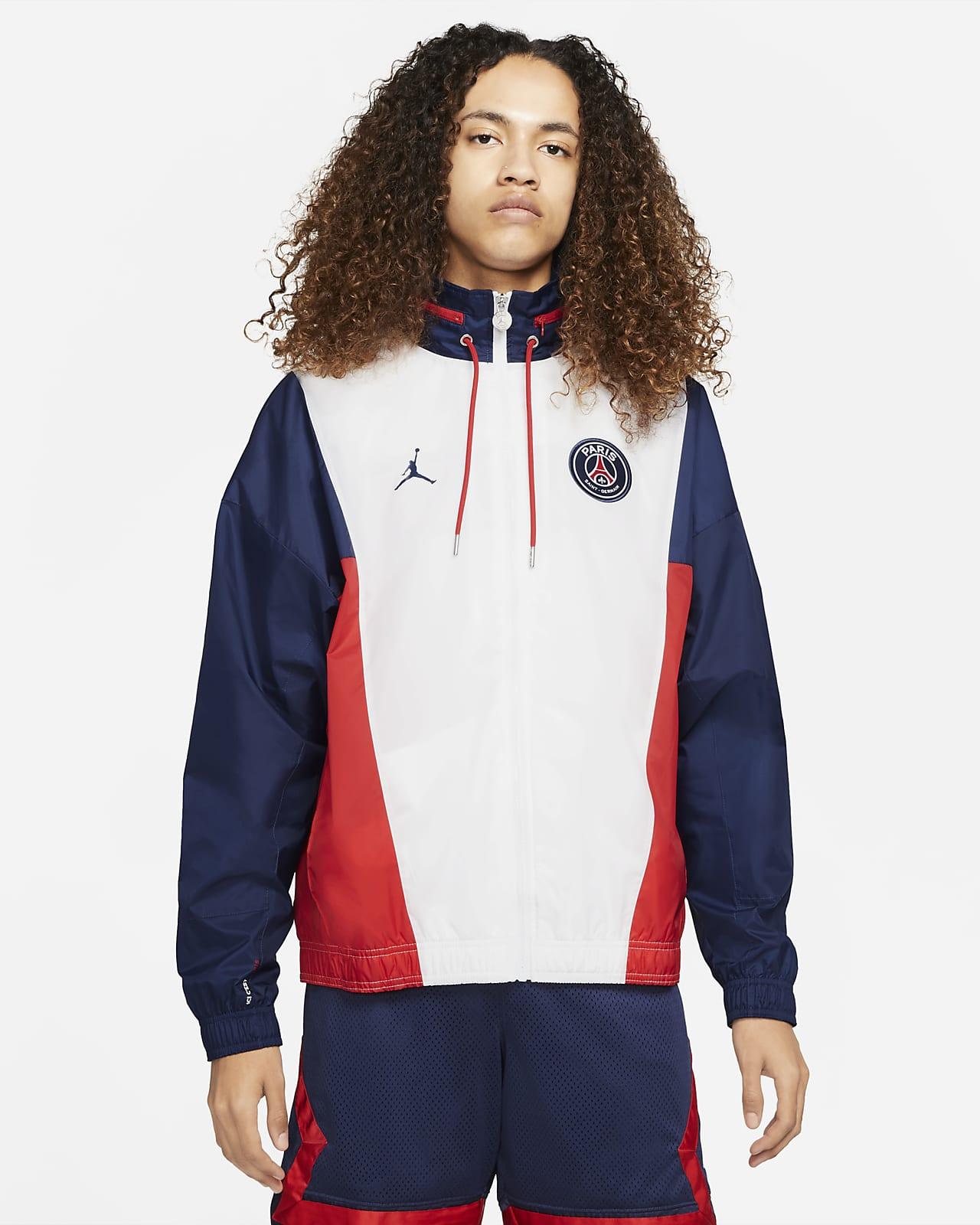 Paris Saint-Germain 男款尼龍連帽外套