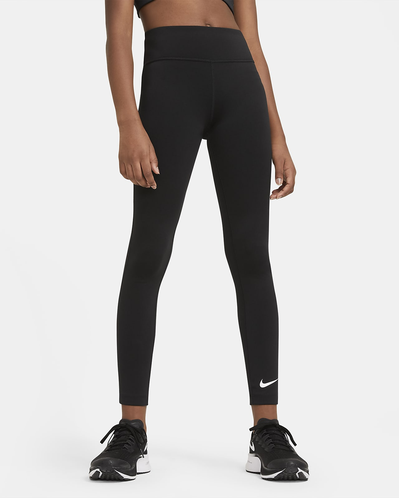 Leggings de treino de cintura subida Nike One Júnior (Rapariga)