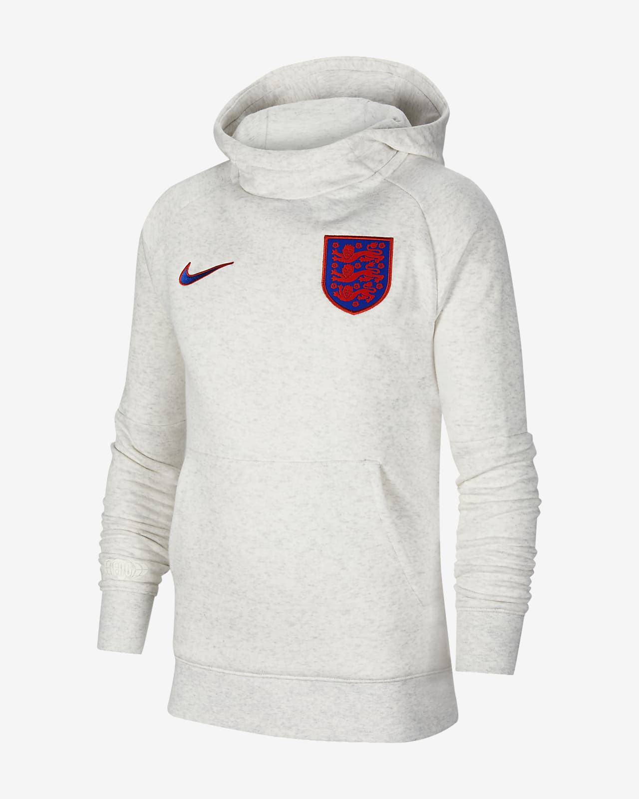 England Older Kids' Fleece Pullover Football Hoodie