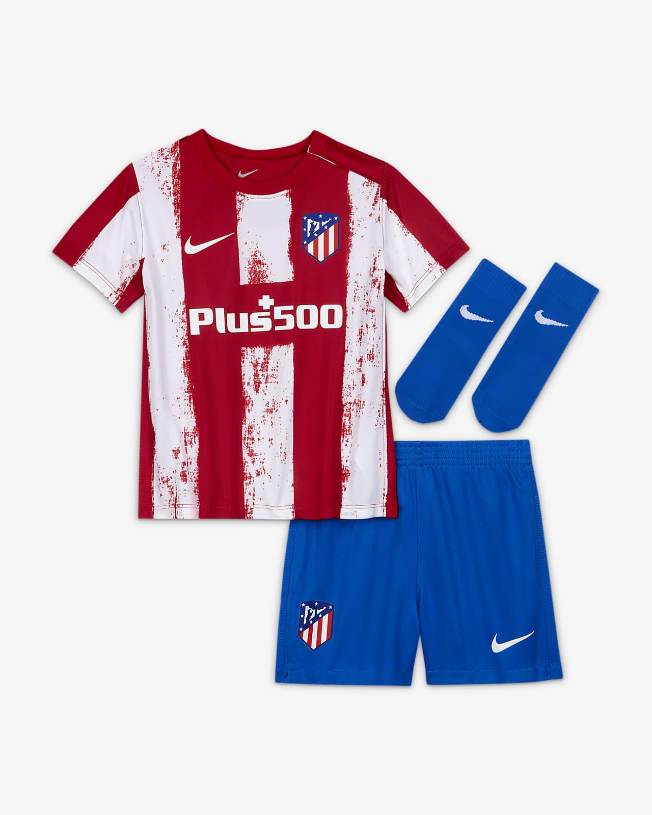Divisa da calcio Atlético Madrid 2021/22 per neonati/bimbi piccoli - Home