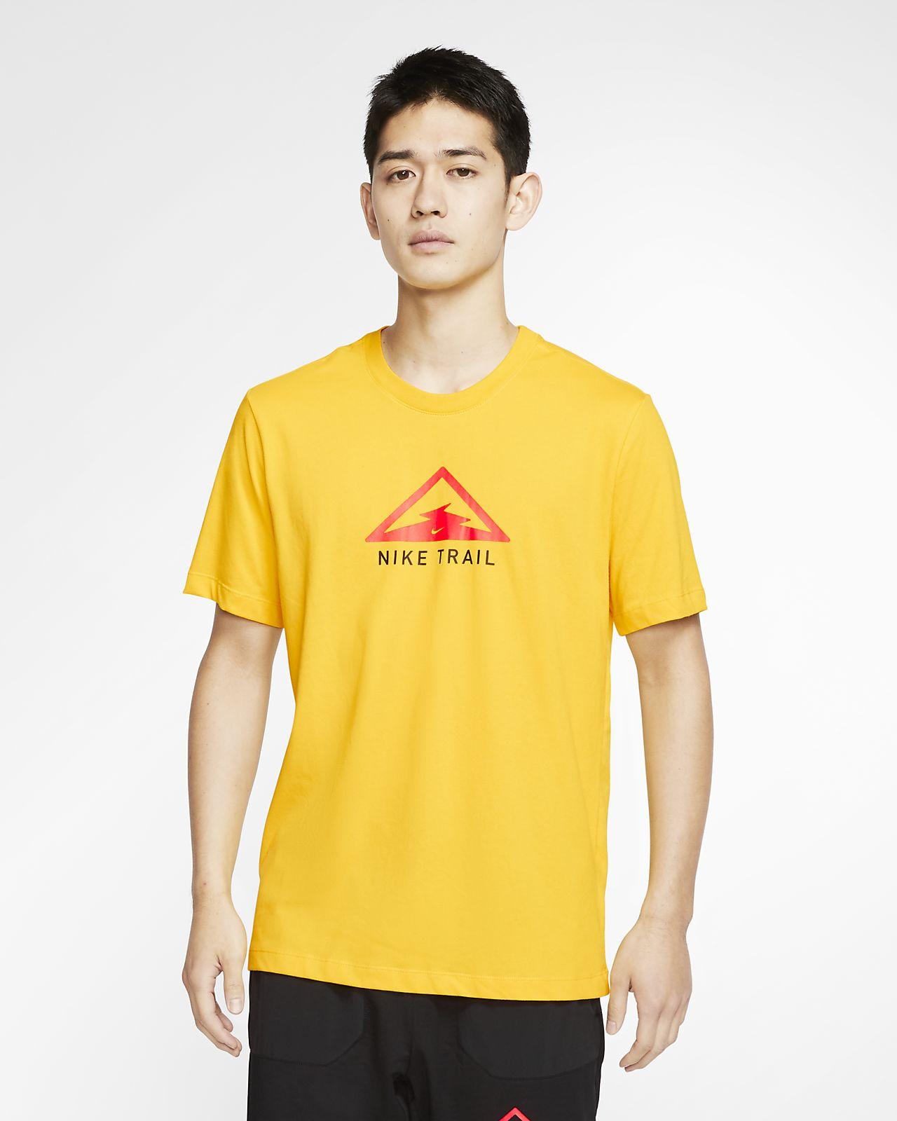 yellow nike dri fit shirt