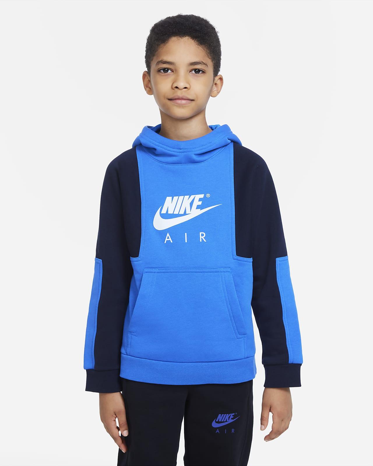 Nike Air-pullover-hættetrøje til større børn (drenge)