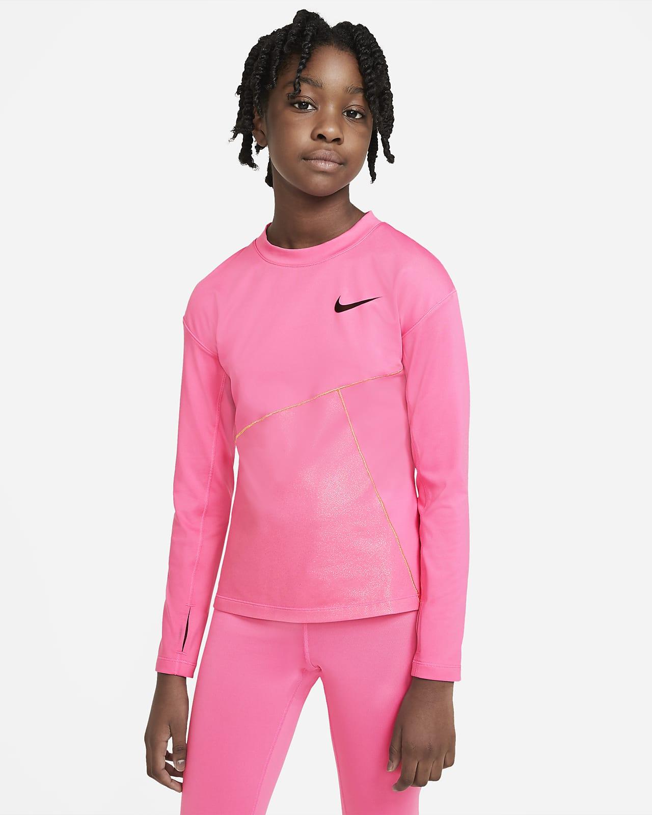 Μπλούζα προπόνησης Nike Pro Warm για μεγάλα κορίτσια