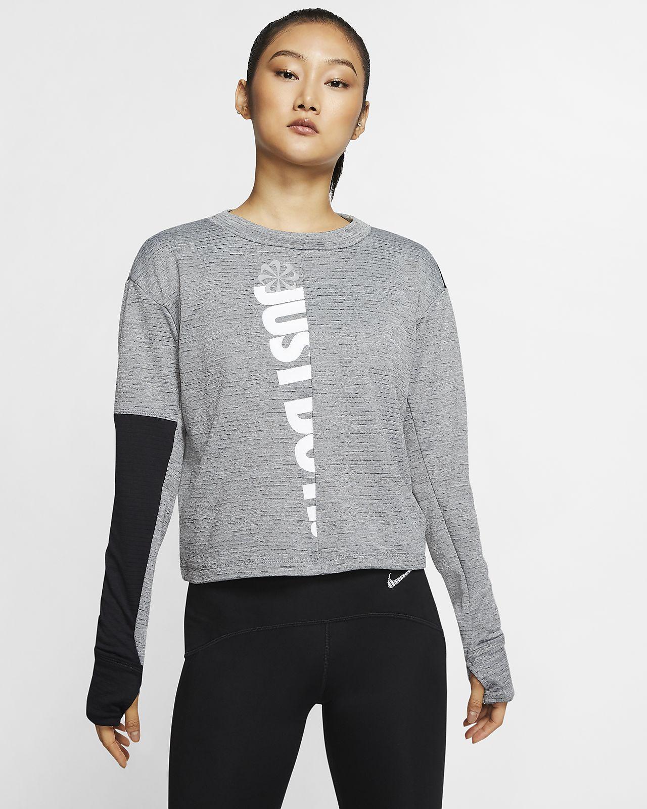 Prenda para la parte superior de running de manga larga para mujer Nike Therma Sphere Icon Clash