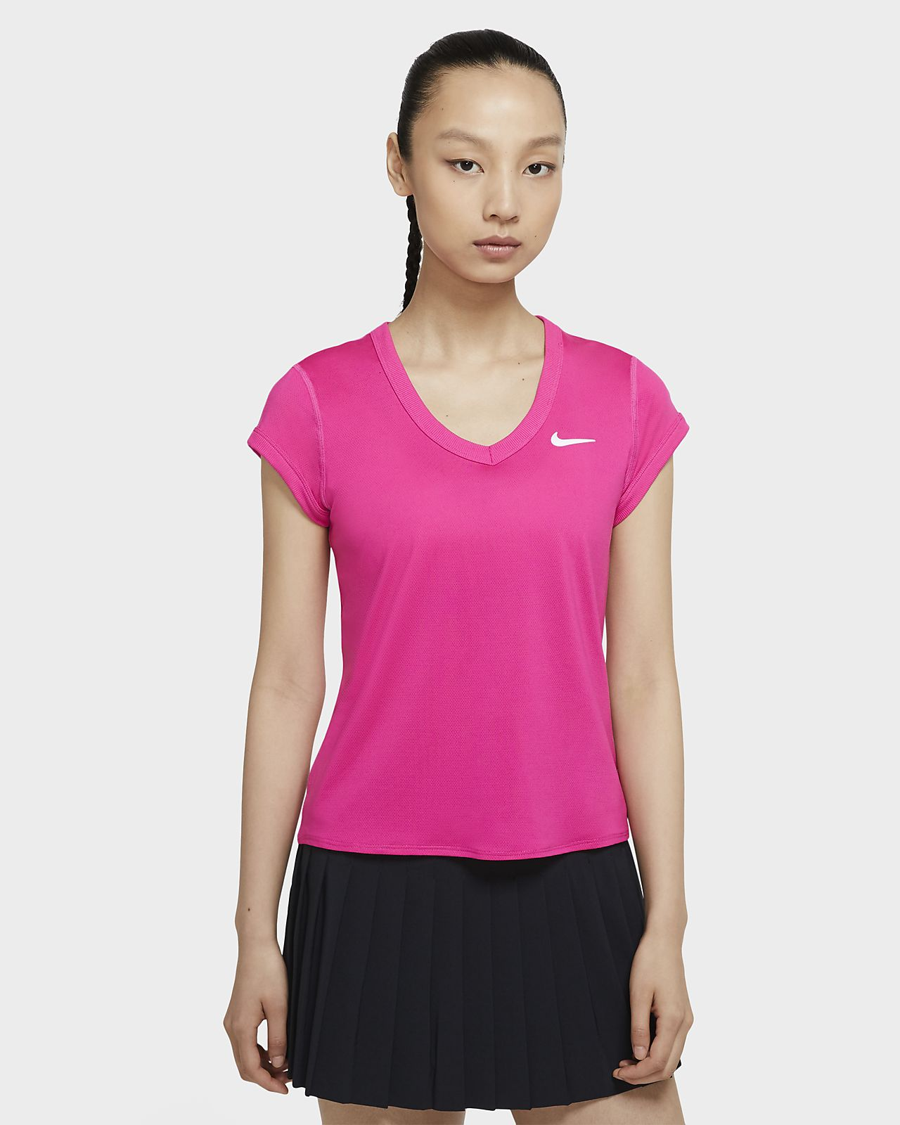 Prenda para la parte superior de tenis de manga corta para mujer NikeCourt Dri-FIT