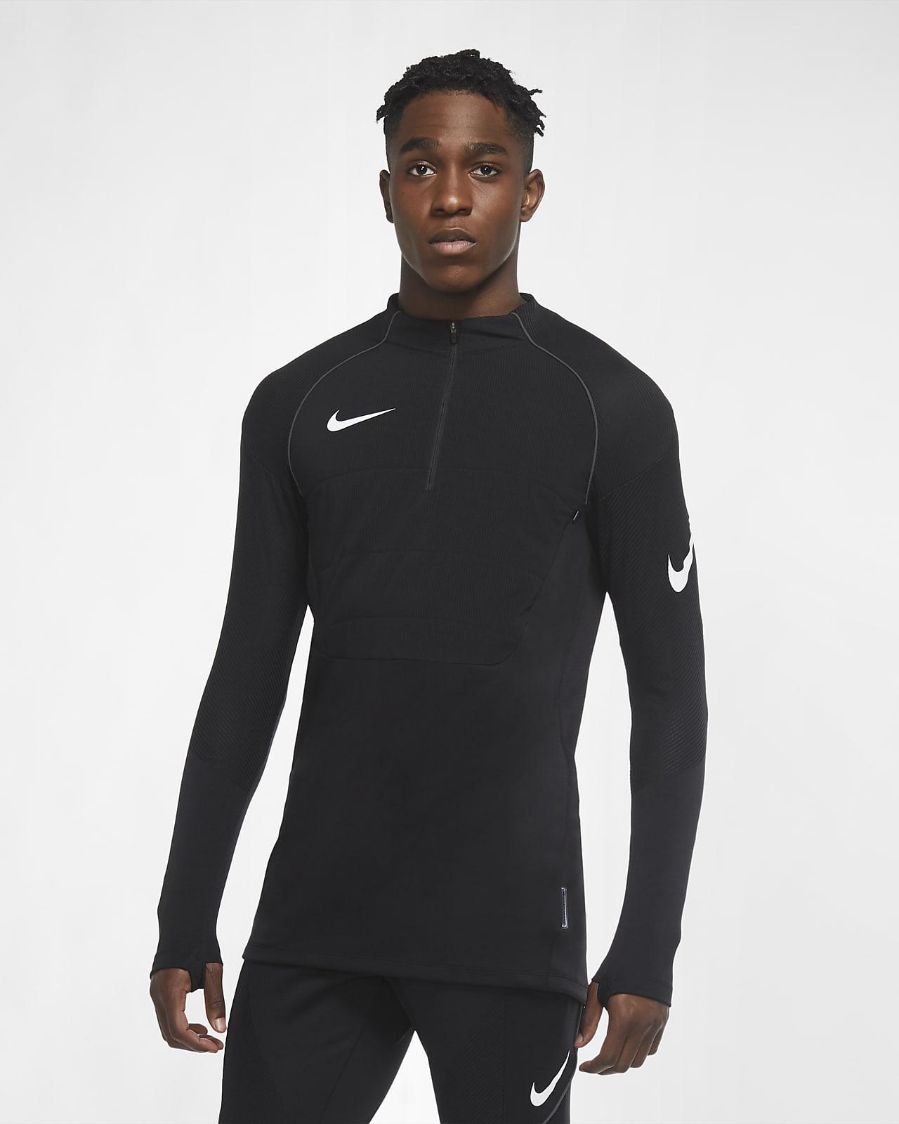 Camiseta de entrenamiento de fútbol con almohadilla para hombre Nike VaporKnit Strike Winter Warrior