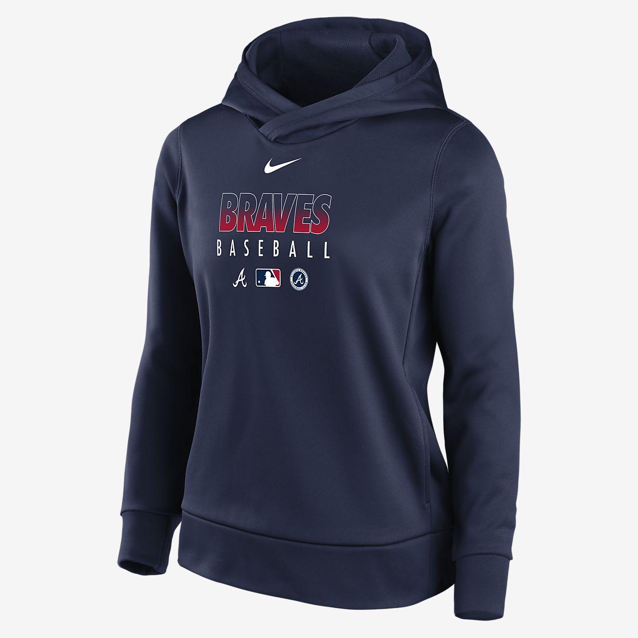 Nike Therma (MLB Atlanta Braves) Women's Pullover Hoodie